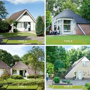 4 types vakantiehuizen op vakantiepark 't Posterbos