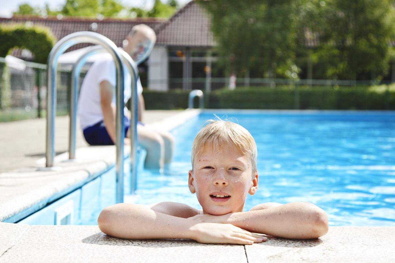 Als eerste in het zwembad duiken