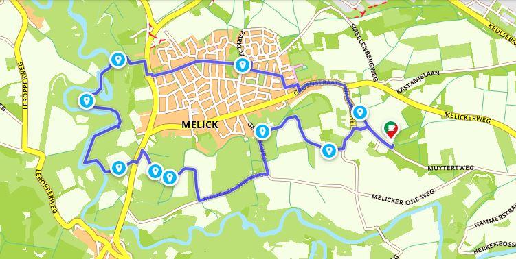 Wandelen door het Roerdal bij Melick